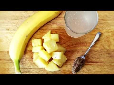 Derrite la grasa como loco, una combinación mortal de dos frutas - YouTube Plátano, piña, linaza jengibre y leche de almendras.