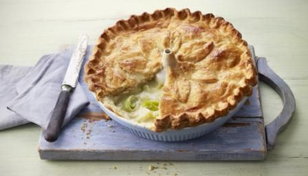BBC Food - Recipes - Potato, leek and cheese pie