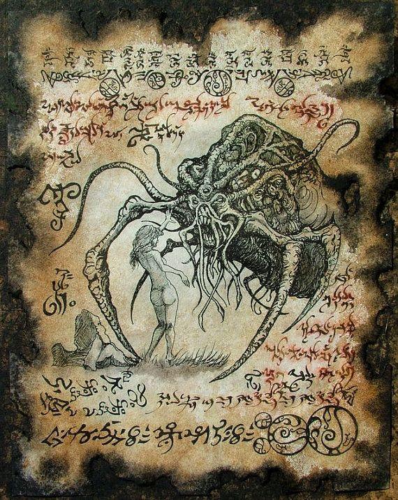 BRIDE of YOG SOTHOTH Necronomicon Fragment by zarono, $10.00