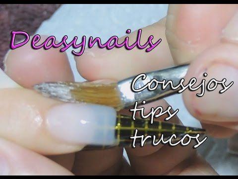 porqué se levantan las uñas de acrilico - tutorial uñas acrilicas principiantes - YouTube