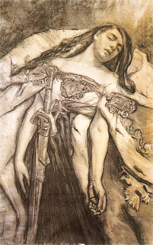 Polonia, sketch for the stained glass for Lwow Cathedral, 1894