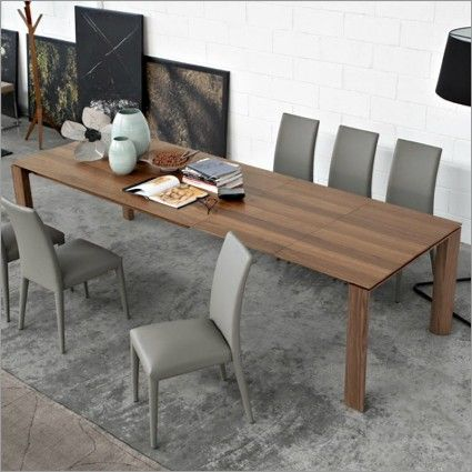 calligaris omnia xl wood extendable table furniture
