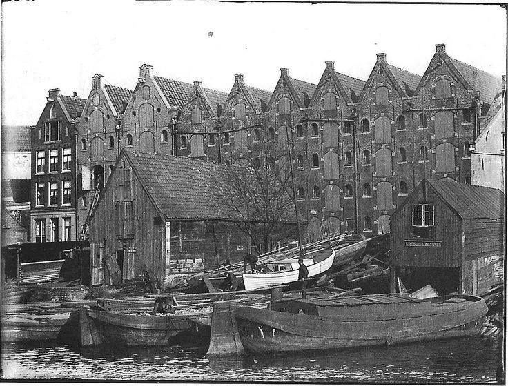 Amsterdam, Prinseneiland. Maart 1896 Jacob Olie.: Historic Amsterdam