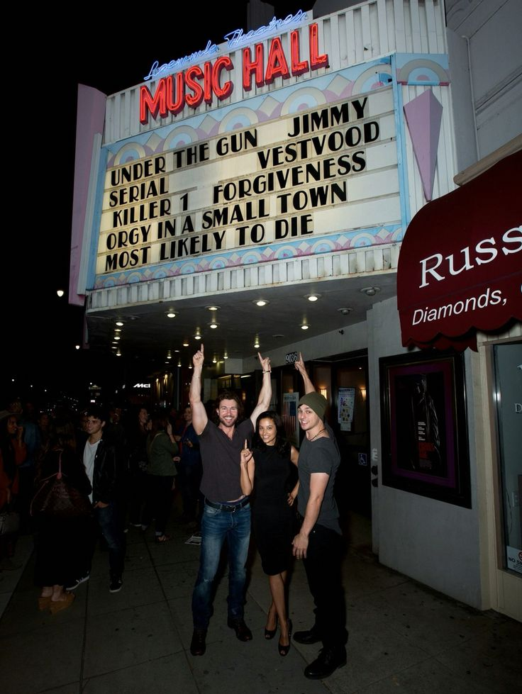 Jason Tobias, Tatum Miranda and Chad Addison at the theatrical release of Most Likely to Die