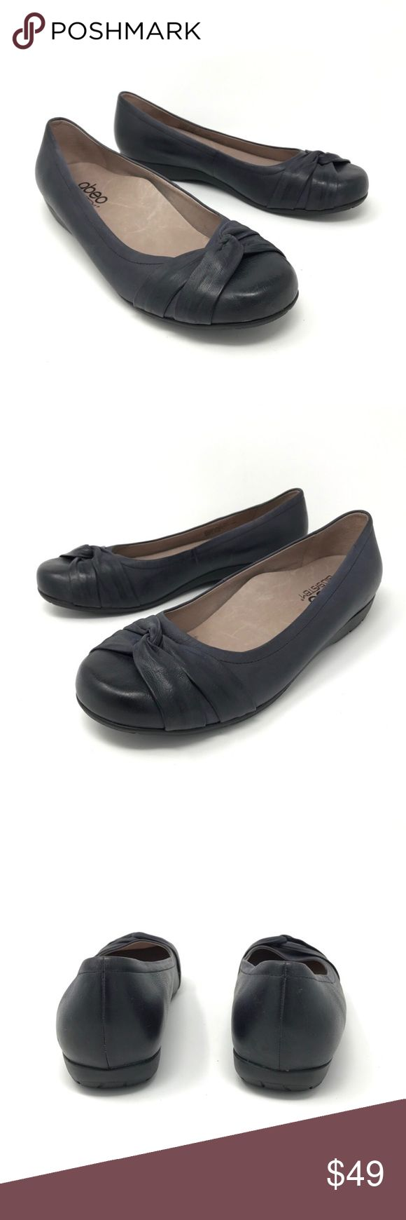 Abeo Bio.System Terrie Ballet Flat Blue Black 8.5N Abeo Bio.System Terrie Ballet Flats Blue Black Women's Sz 8.5 N Comfort Shoes  Size: 8.5 Narrow Color: Blue Black Style Name/Number: Terrie  In good preowned condition with no known flaws and light overall wear, some light scuffs or marks to leather, they are a blue black inky color. Abeo Shoes Flats & Loafers