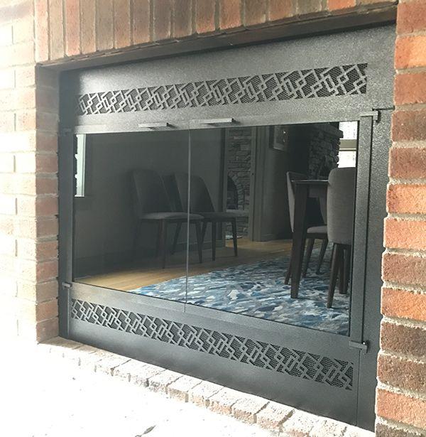 Red Hook Ny Custom Fireplace Face Newly Installed Fireplace Facing Custom Fireplace Fireplace Glass Doors