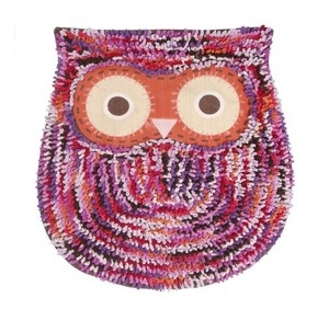 Cute Owl Multicoloured Fluffy Rug / Bath Mat. By Sass & Belle.  Visit our family business...The Ginger Sheep.