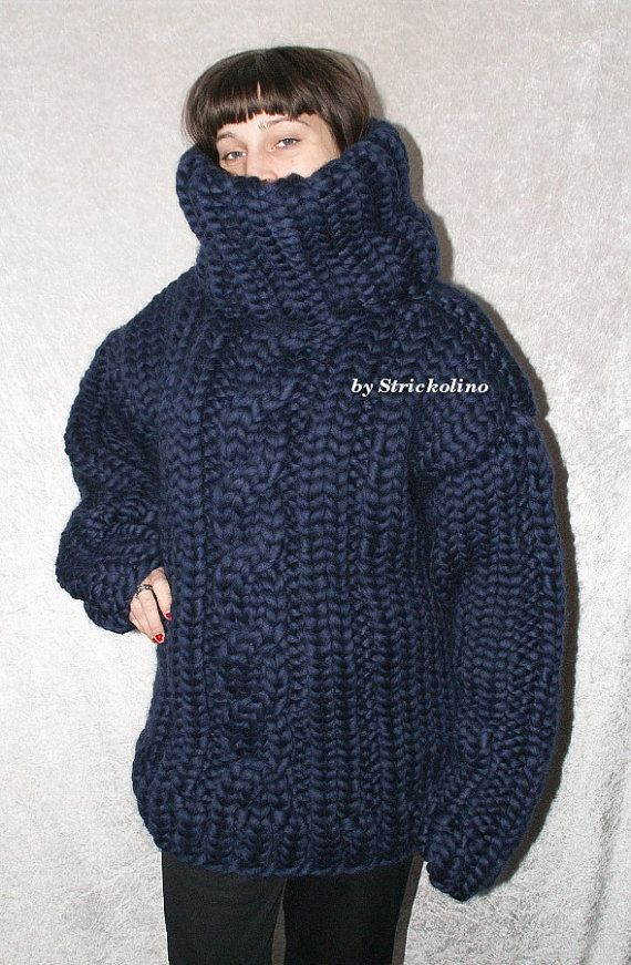 Lamswollen Trui.4 6 Kg Thick Knit Turtleneck Sweater Kabel Pattern Merino Sheep Wool