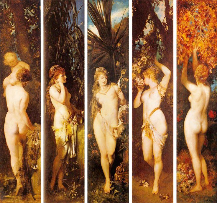 HANS MAKART. Los cinco sentidos. 1872-1879.