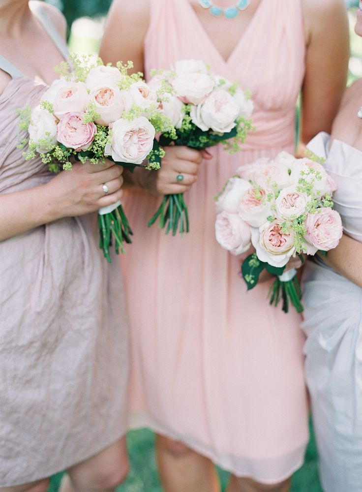 Bridesmaid's Bouquets | On SMP: http://www.stylemepretty.com/2013/12/02/st-louis-garden-wedding-from-clary-photo | Photography: Clary Photo