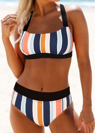 Spaghetti Strap Scoop Neck Layered Tankini Set | modlily.com - USD $27.27 3