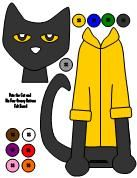 A printable felt board activity for Pete the Cat and His Four Groovy Buttons available at www.makinglearningfun.com.