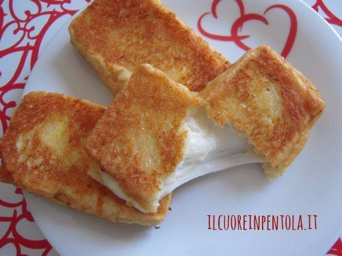 Mozzarella in carrozza - Ricetta mozzarella in carrozza