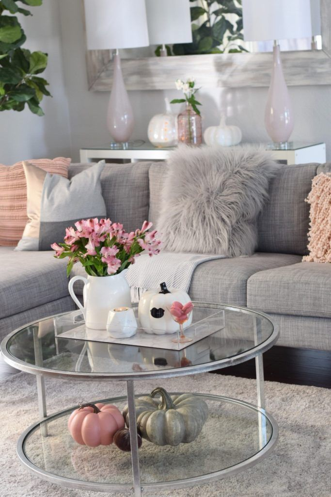 Fall decor doesn't have to be orange and yellow! Pink, gray and white is the new Fall! Check out the great pieces available at HomeGoods. Sponsored Pin