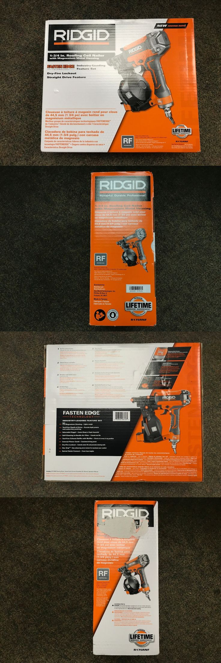 Roofing Guns 42243: Ridgid R175rnf 15 Degree 1-3 4 In. Air Coil Roofing Nailer New Open Box -> BUY IT NOW ONLY: $149.99 on eBay!