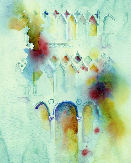 Ca' d' Oro, Venice, Celebration - simply gorgeous style of watercolor