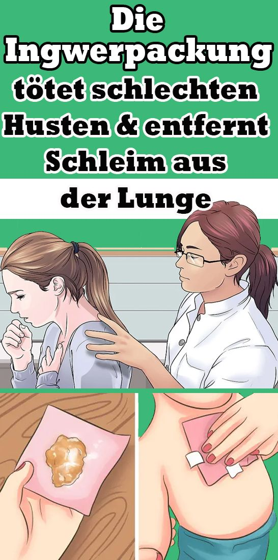 The ginger wrap kills bad cough and removes mucus from the lungs  – Gesundheit und Schönheit