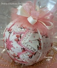ornament, use vintage hankie or lace would be pretty.