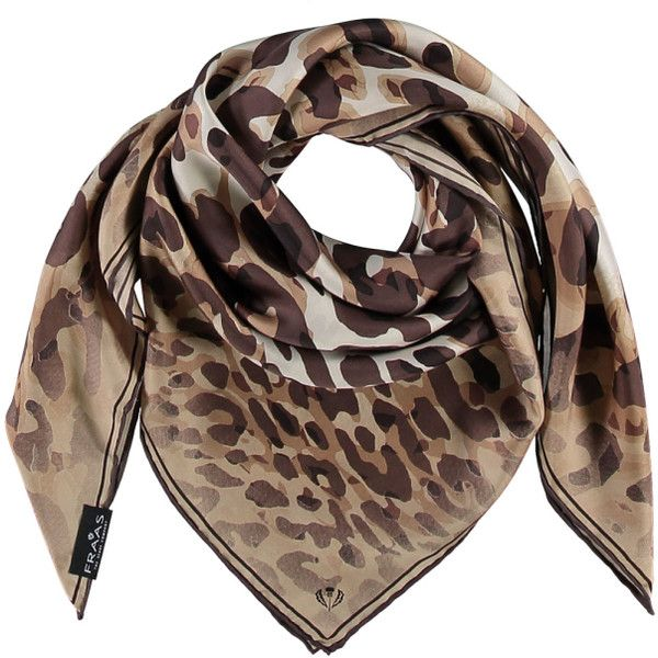 Leopard Print Silk Scarf ($65) ❤ liked on Polyvore featuring accessories, scarves, silk shawl, leopard print scarves, pure silk scarves, silk scarves and short scarves