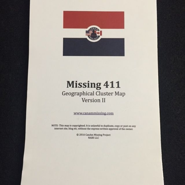 Missing 411- Geographical Cluster Map- Version 3 | Map ...