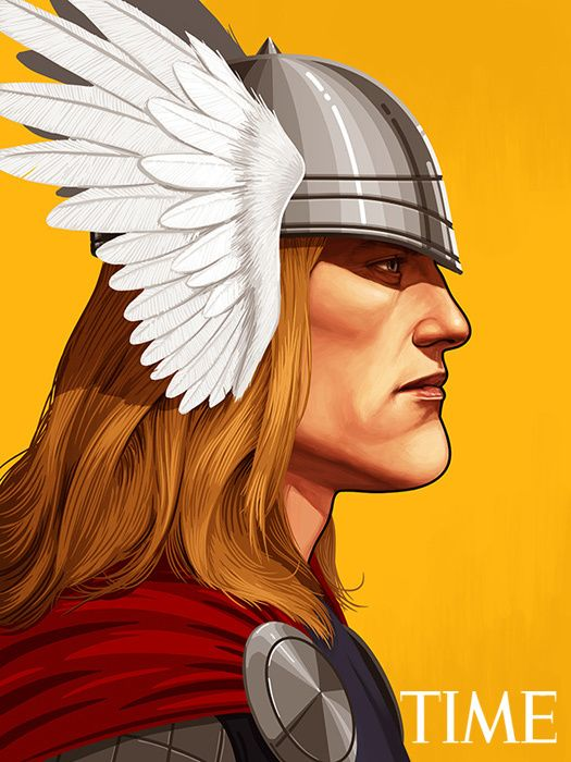Mike Mitchell - Marvel Portraits Time thor