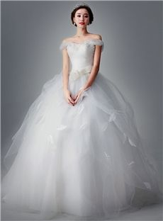 Pear Sleeveless Natural Flowers Glamorous & Dramatic Lace-up Garden/Outdoor Ball Gown Wedding Dress