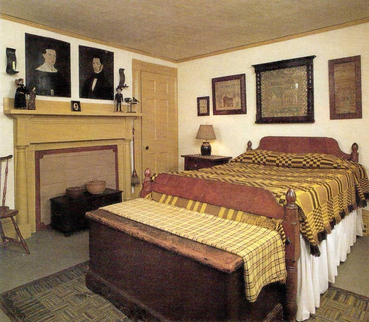 Early American Bedroom Furniture Vaulted Ceiling Bedroom Bedroom Furniture Oak Bedroom Bed Head Ideas: 157 Best Early American Bedrooms Images On Pinterest