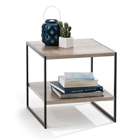Side Table - Industrial Style | Kmart $29.00 measures 50cm (W) x 50cm (H) x 50cm (D).