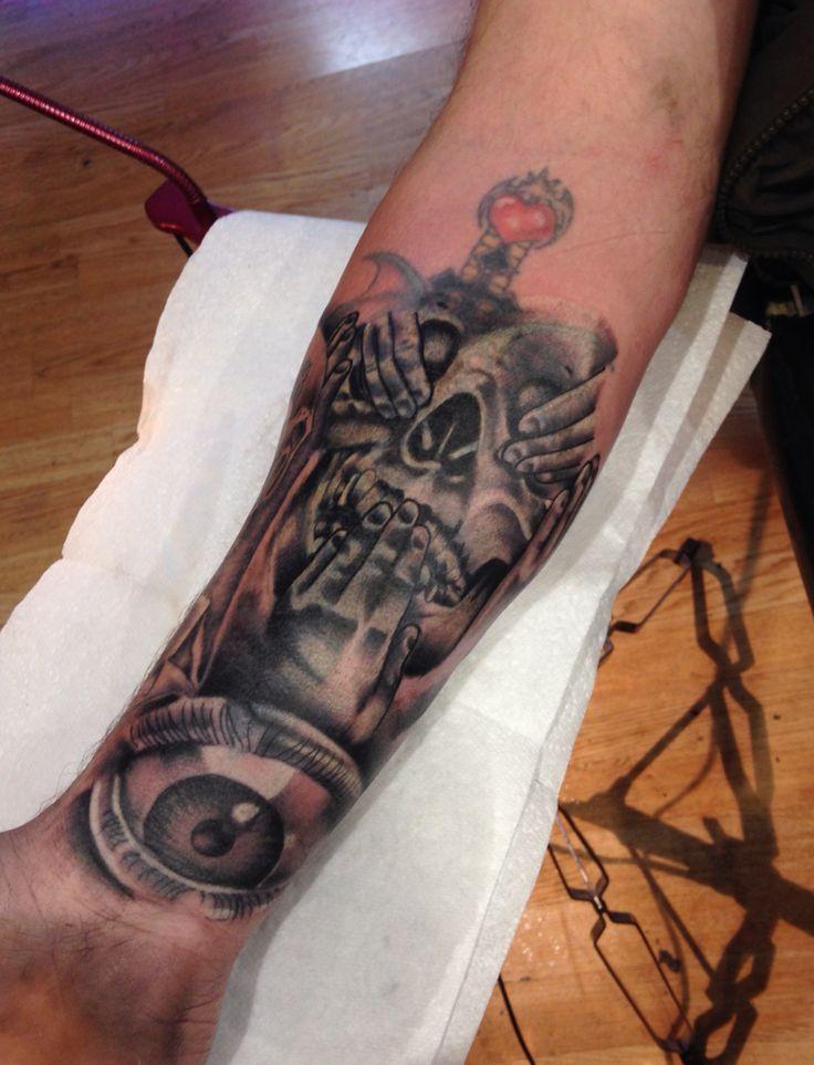 #coveruptattoo #skull #illuminiati #eye #tattoo #lacenano