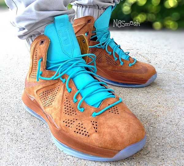 Lebron 10 Re-Entry Silver Diffused Jade Blue