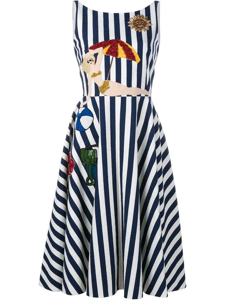 Dolce & Gabbana Полосатое Платье с Аппликацией - Купить в Интернет Магазине в Москве | Цены, Фото.
