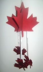 maple leaf mobile- perfect for a Canada day theme.