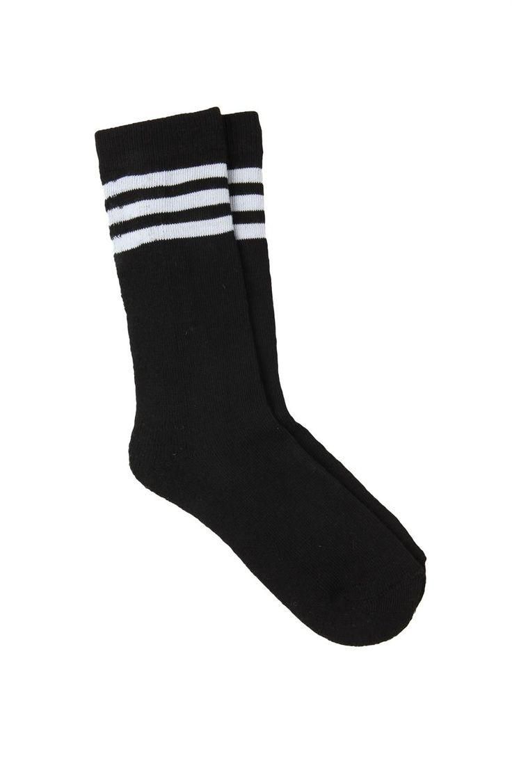 Health Goth // Cotton On / Stripe Sport Sock
