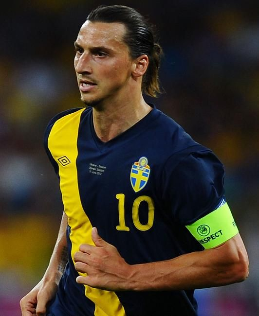 Zlatan looks like a warrior