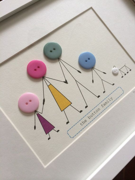 Personalised Family Print Frame van buttonbaps op Etsy #manualidadesdecoracion