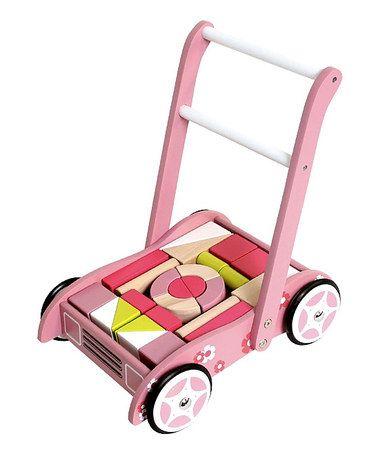 Another great find on #zulily! Pink Pram & Block Set #zulilyfinds