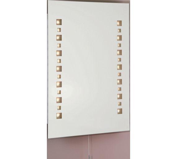 Buy Collection Mosaic LED Illuminated Bathroom Mirror At Argoscouk