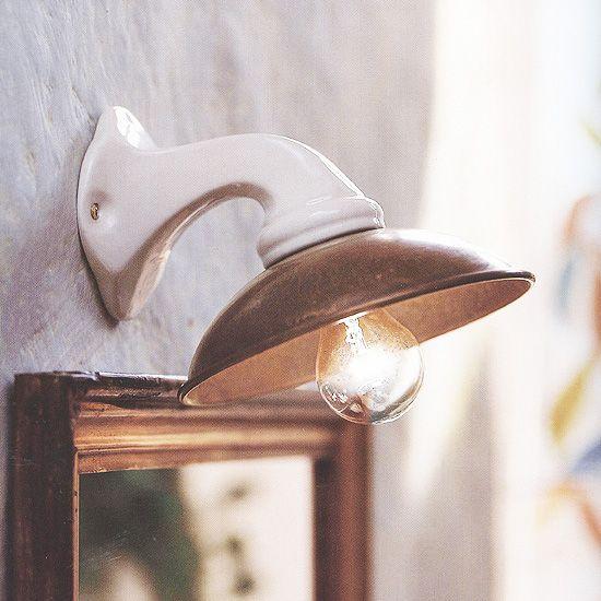 Kleine Landhaus-Wandleuchte aus Keramik I Girasoli 064.05.OC von Il Fanale - Foto