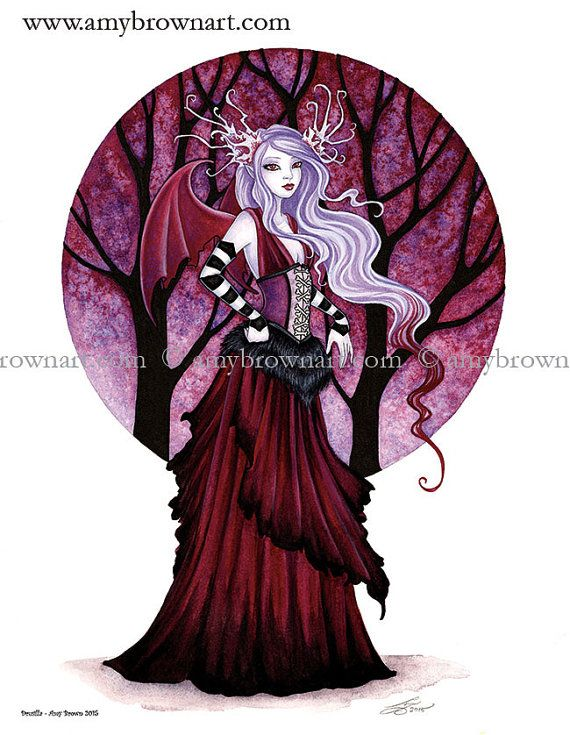 Vampire Fairy PRINT 8.5x11 Drusilla by Amy Brown by AmyBrownArt