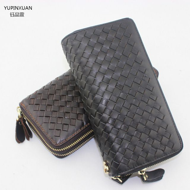 Fair price YUPINXUAN New arrivals double zippers plaid wallet brands black wallet designer mens wallets online wallet just only $29.30 with free shipping worldwide  #walletsformen Plese click on picture to see our special price for you