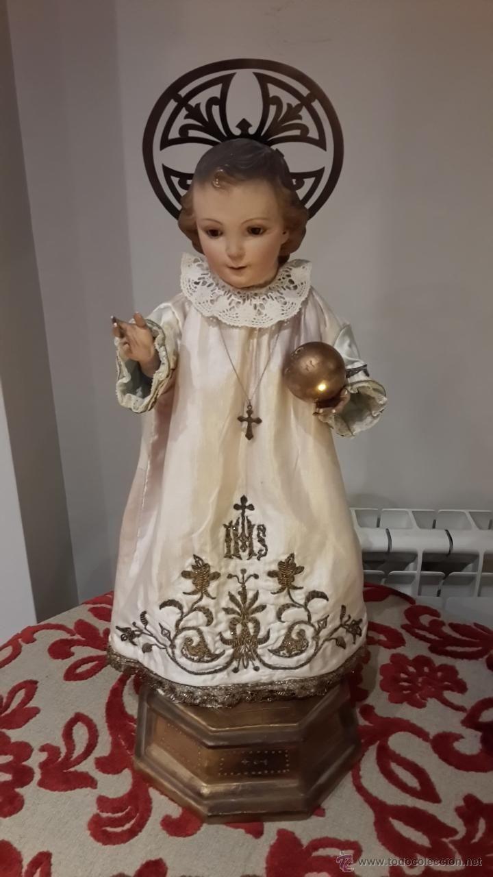 TALLA EN MADERA DEL NIÑO JESUS DE LA BOLA , CAPIPOTA DEL SIGLO XIX Nino #Jesus