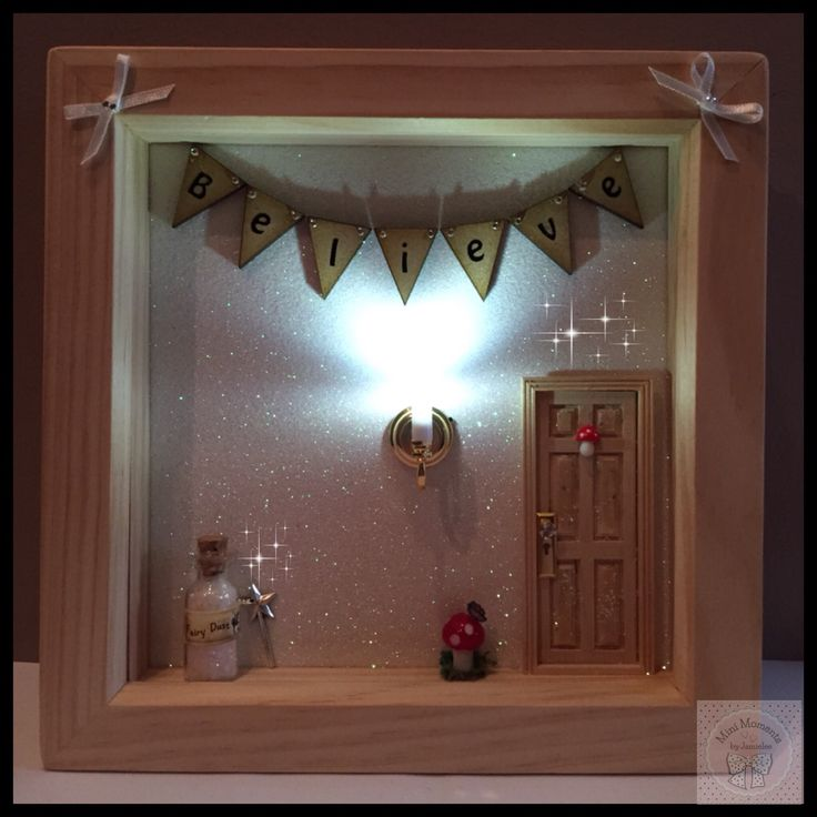 Light up fairy door frame with fairy dust from Mini Moments by Jamielee© Fb.com/minimomentsbyjamielee