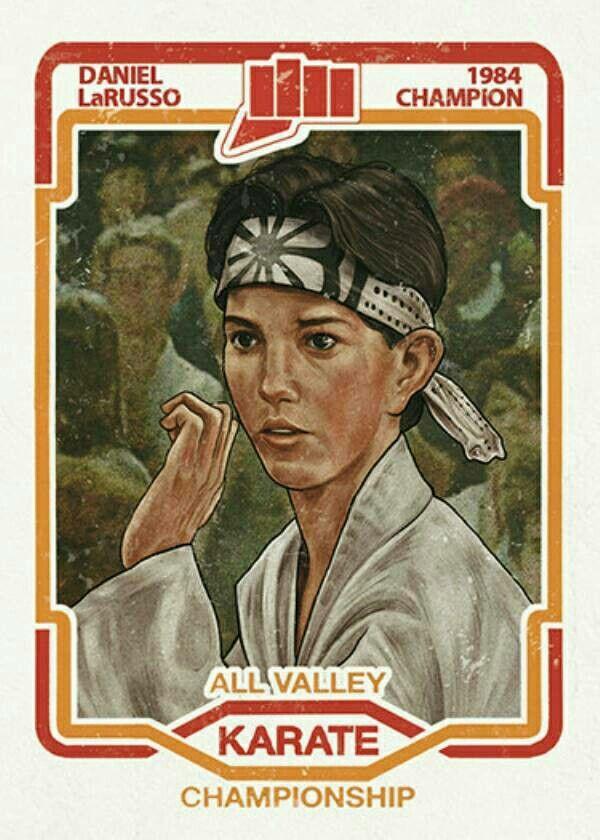 Daniel LaRusso trading card karate kid