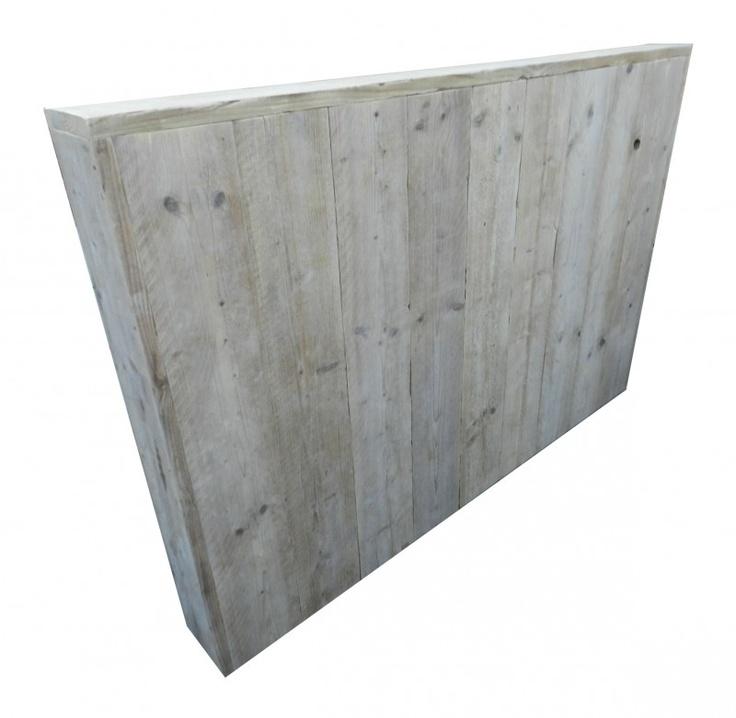 Bedhoofd steigerhout bij huis en grietje