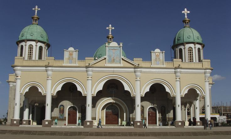 This is one of the many Ethiopian Orthodox Churches ...