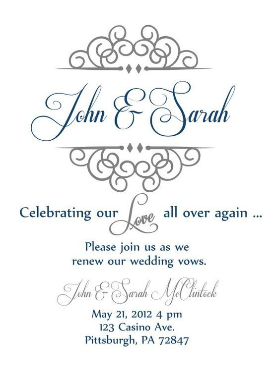 25 Years Vow Renewal Invitation Vow Renewal Invite 25th Wedding