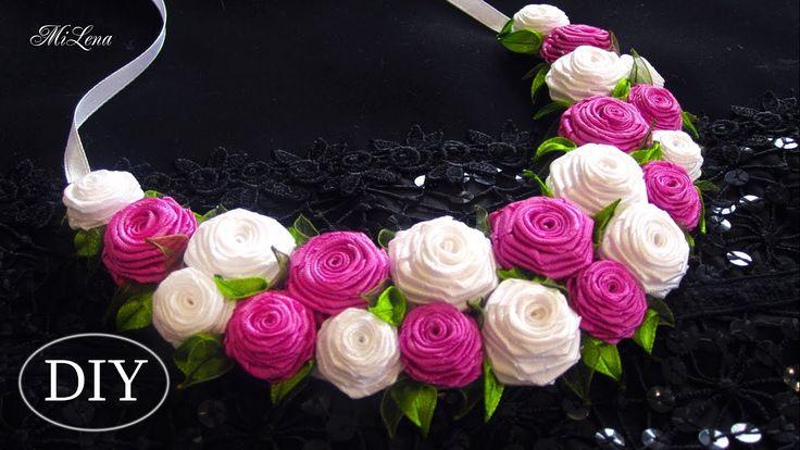КОЛЬЕ ИЗ РОЗ, МК / DIY Roses Necklace