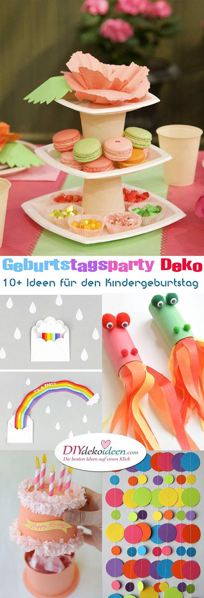 Geburtstagsparty DIY Deko - Kindergeburtstag -10+ Ideen Bastelideen Kinderparty Deko