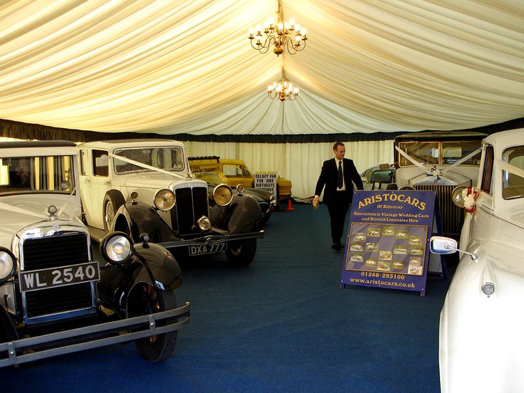 A classic wedding car show in brentwood of essex the