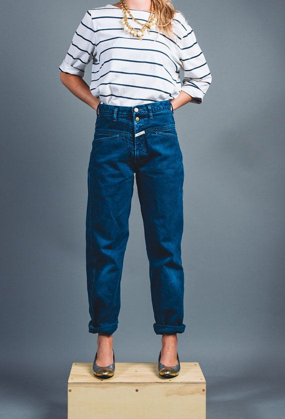 Girbaud Vintage 1980s Dark Wash Slouchy Jeans Fashion